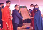 CM lays foundation stone of 'Herbal Medical and Spiritual Healing Complex'
