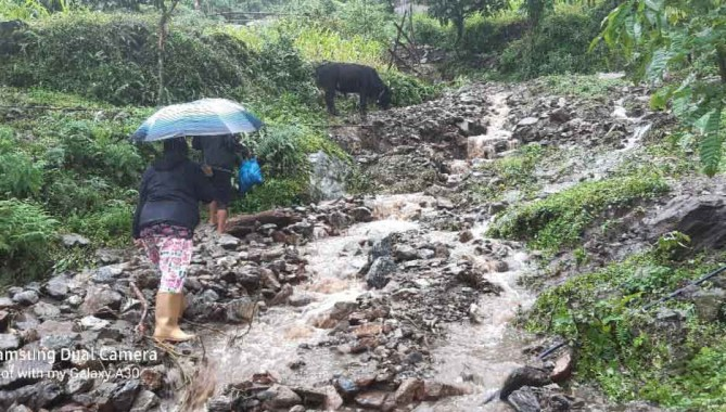 Heavy rainfall forecast in Sikkim and North Bengal