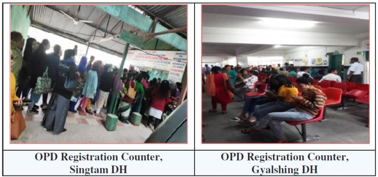 Inadequate registration counters at Singtam, Geyzing hospitals: CAG