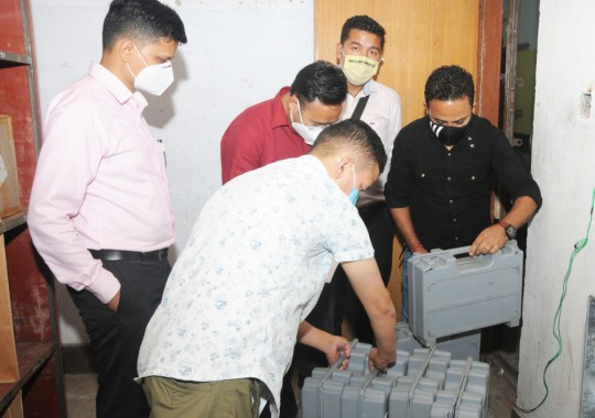 EVM commissioning for Arithang-II by-poll