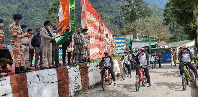 ITBP high-altitude cycling flagged off