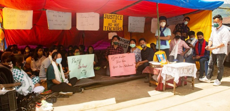 Protest and hunger strike to continue: Adhoc teachers