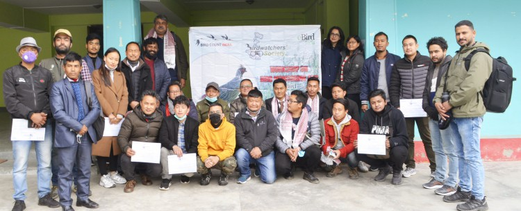 Workshop at Pakyong for local birding enthusiasts