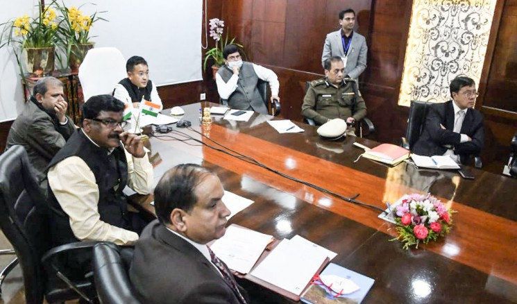CM attends video conferencing with Modi